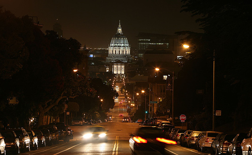 Capitol Hill at Night, by Thomas Hawk from Flcker
