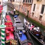 Venice Gondola Traffic Jam