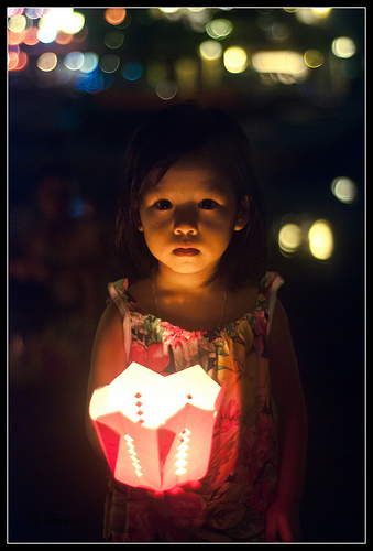 Vietnam Child and Lantern