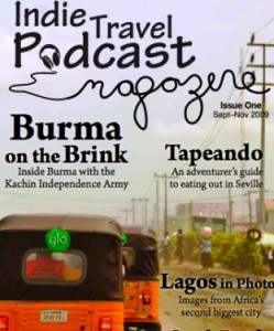 Indie Travel Podcast Magazine cover