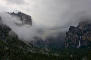 Yosemite in fog by Dale Carlson