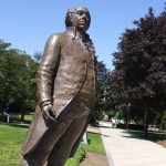 John Adams outside Quincy City Hall