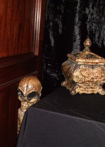 In the seance room of the Haunted Mortuary