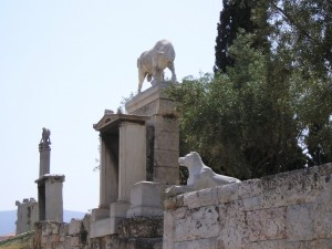 Lion and lamb? Keriamakos Cemetery, Athens
