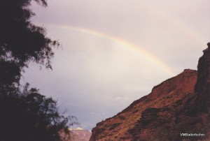 Rainbow at Grand Canyon
