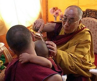 Dalai Lama and the reincarnation child