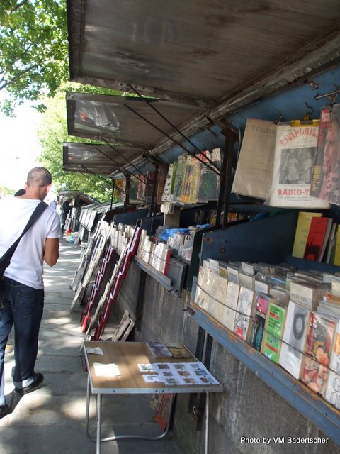 Booksellers along the Seine