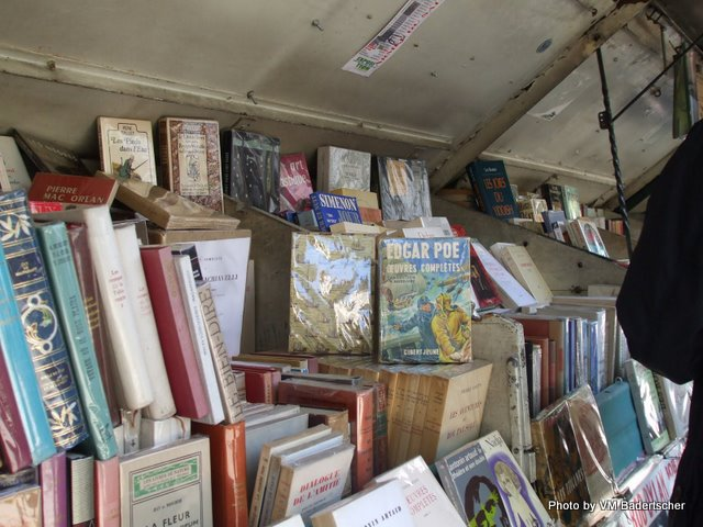 Books on sale at outdoor shops