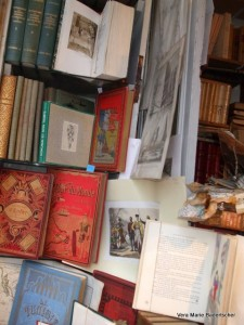 Antique Travel books Window Display