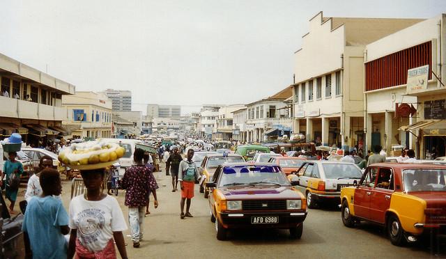 Accra Ghana street scene