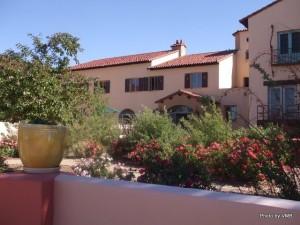 Front garden of La Posada, Winslow, AZ