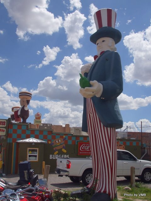 Uncle Sam in Hatch, NM, Chile capital of the world