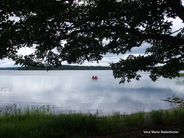 Canoers at Kejimkujuk Park in Nova Scotia