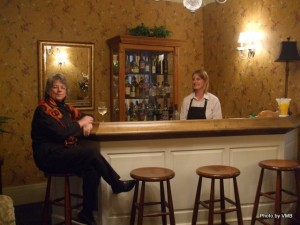 Paula at the parlour bar at DesBarres Manor