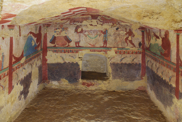 Etruscan painted tomb