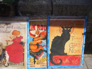 Posters for sale in book stall