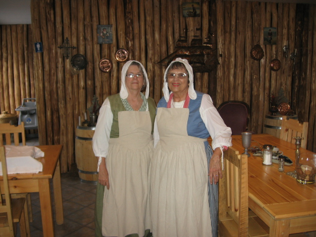 Two Sisters play dressup in Louisbourg