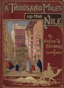 Book cover, 1000 Miles Up the Nile