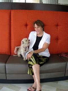 Frankie & me, Hotel Indigo lobby
