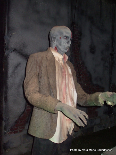 Zombie in the graveyard