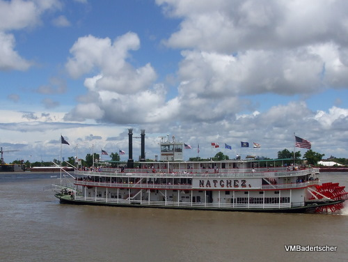 Padllewheeler on the Mississippi