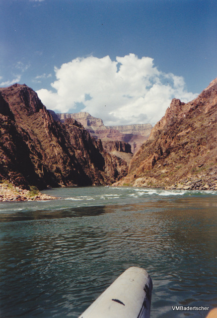 Grand Canyon view from a raft on the Colorado River