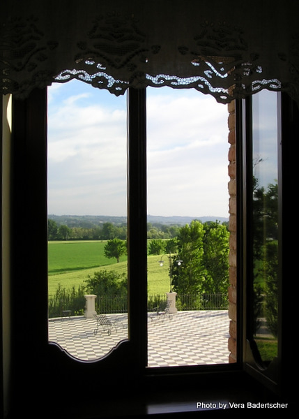 View from Le Case Hotel, Le Marche region, Italy