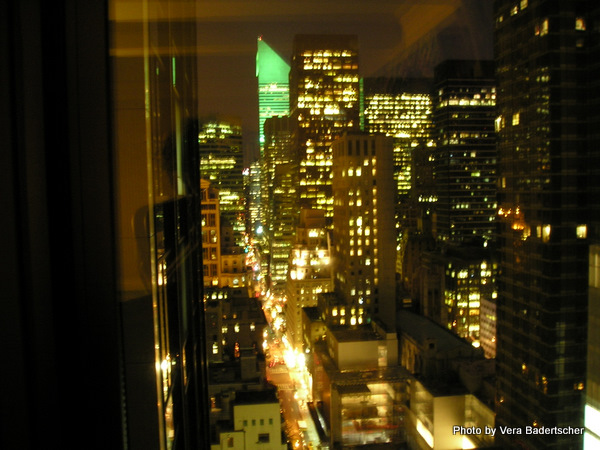 Night view from Warwick Hotel, NYC