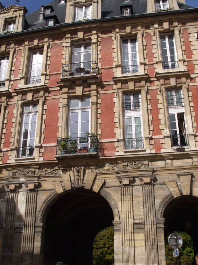 Entrance to Place de Vosges, Paris, home of Victor Hugo
