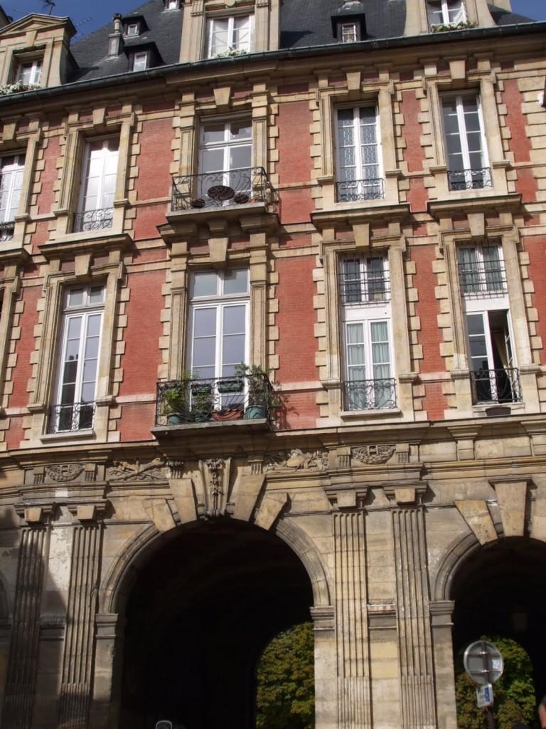 Entrance to Place de Vosges, Paris, home of Victor Hugo