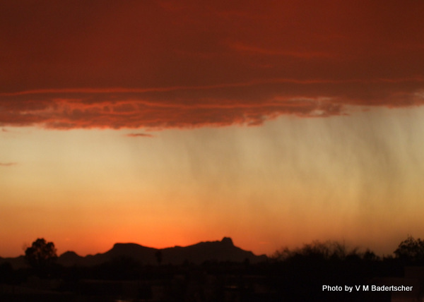 Sunset and rain, Tucson