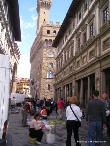 Uffizi Courtyard, Florence