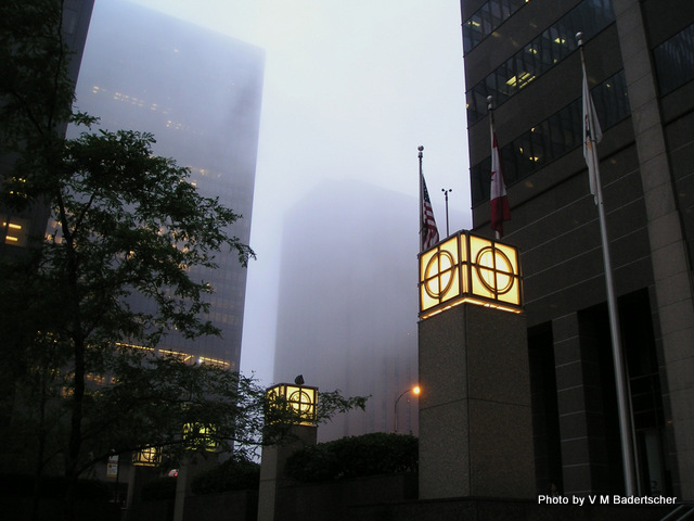 Foggy Streets in Chicago