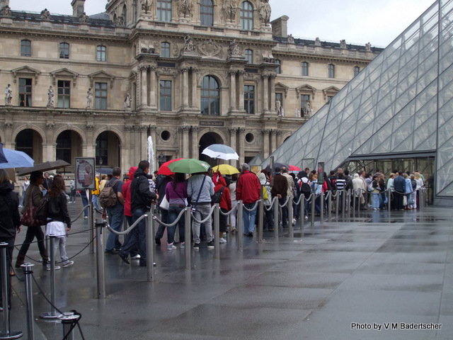 Rainy Day at the Louvre
