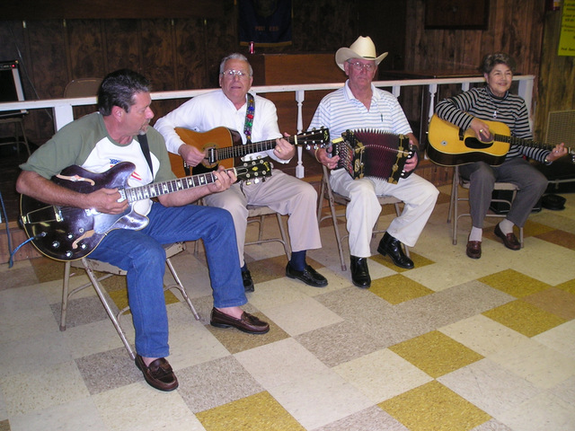 Musicians jamming at the Church Point American Legion