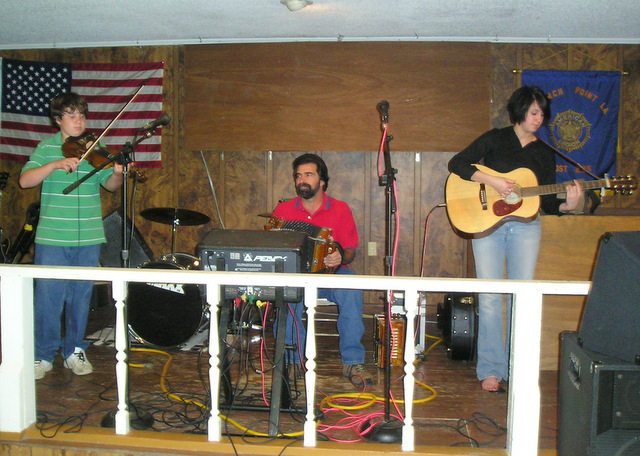 Daigle Family band jamming at the Church Point American Legion