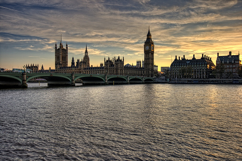 London Thames at Sunset