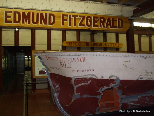 Memorabilia from the wreck of the Edmund Fitzgerald