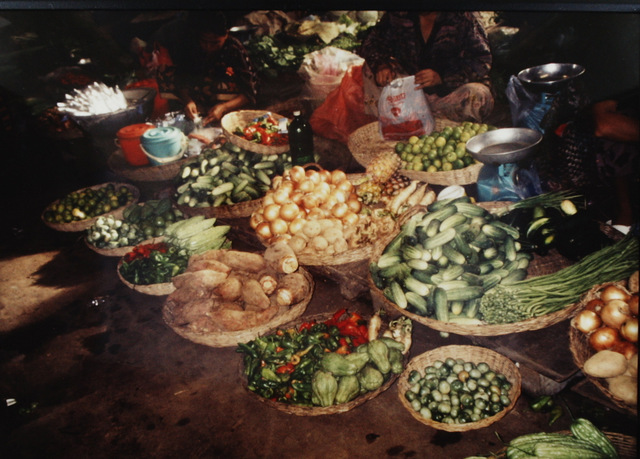 Veggies at market, Siem Riep