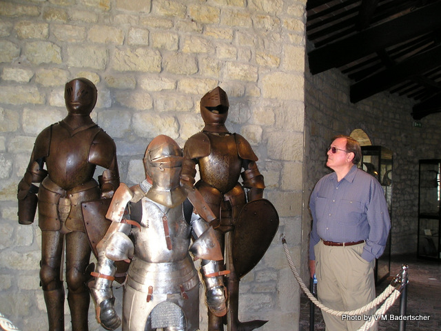 Ken checking out the knights at San Leo