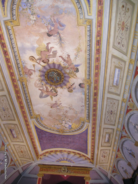 Painted ceiling in Sassocorvaro Castle theater