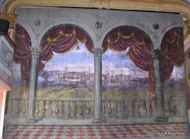 Painted Scenery at Sassocorvaro Castle Theater