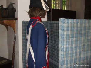Marie Antoniette's cell/guard recreated at Concergerie