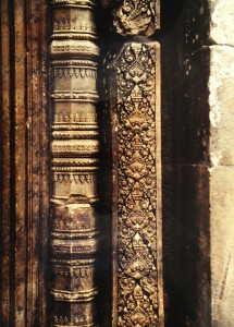 Carved stone pillars, Banteay Srei