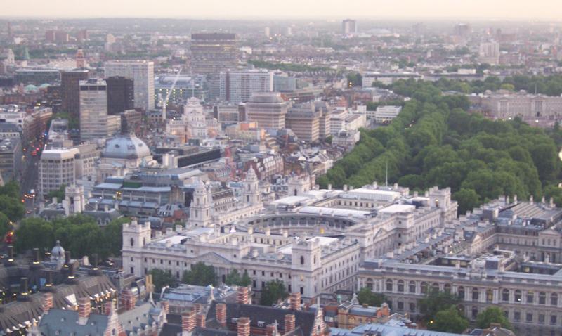 London as seen from London Eye