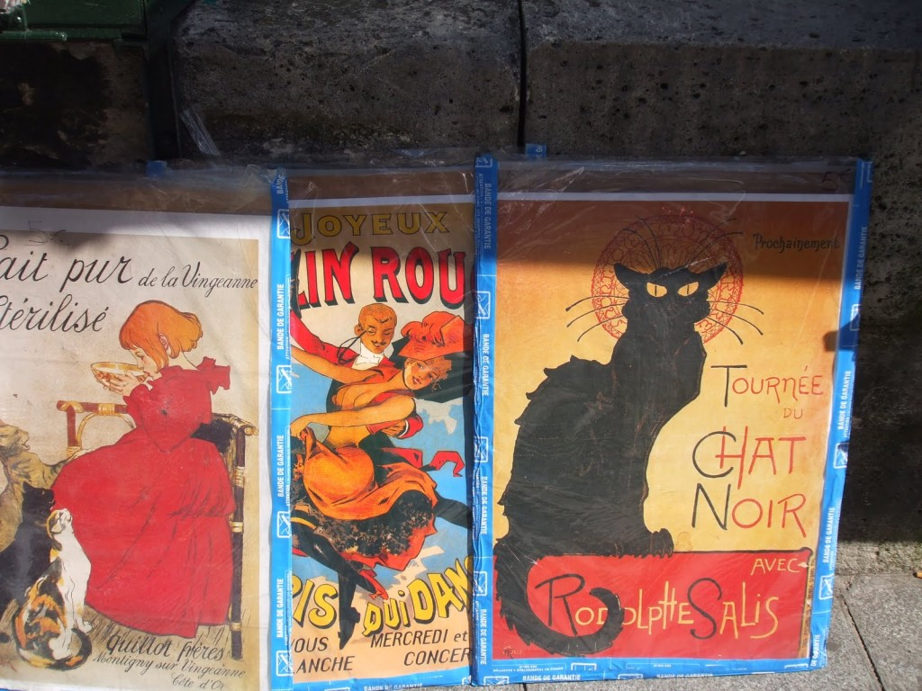 Paris Book Stall selling poste