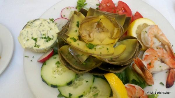 Artichoke salad, Patisserie Boisserie, Carmel