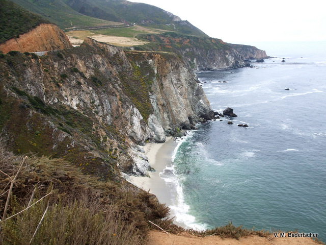 Steep cliffs, Big Sur Coast