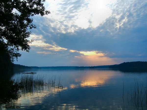 Lake in Auguston County, Poland