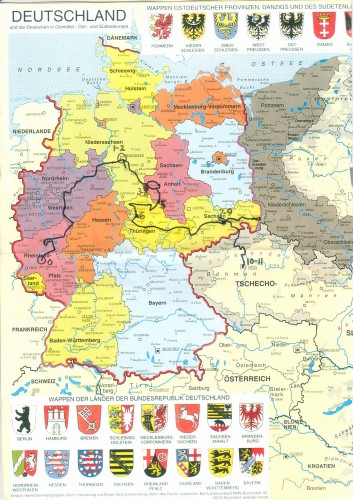 Map of Germany and Prussia